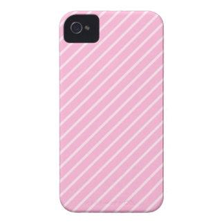 Modelo rayado diagonal rosado del caramelo Case-Mate iPhone 4 cárcasas