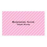 Modelo rayado diagonal rosado del caramelo tarjetas de visita