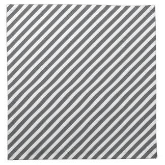 Modelo rayado gris y blanco servilleta