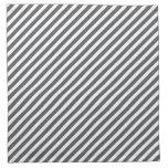 Modelo rayado gris y blanco servilletas de papel
