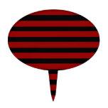 Modelo rayado grueso rojo y negro de la capa palillos de tarta