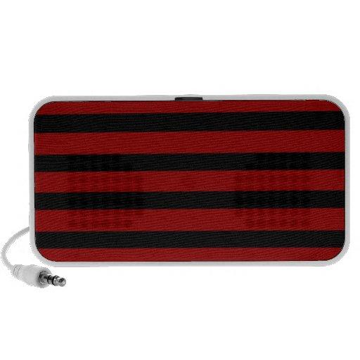 Modelo rayado grueso rojo y negro de la capa portátil altavoz