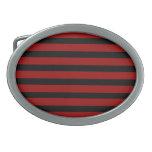 Modelo rayado grueso rojo y negro de la capa hebilla de cinturon