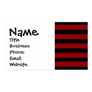 Modelo rayado grueso rojo y negro de la capa tarjetas de visita