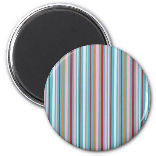Modelo rayado multicolor de la diversión imán para frigorifico