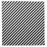 Modelo rayado negro y blanco servilleta imprimida