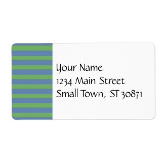 Modelo rayado púrpura suavemente verde y azul etiquetas de envío