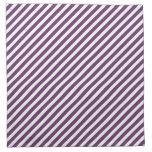 Modelo rayado púrpura y blanco servilleta de papel