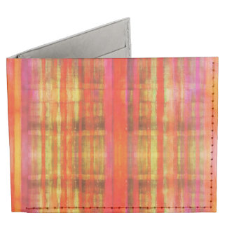 Modelo rayado rosado anaranjado amarillo rojo billeteras tyvek®