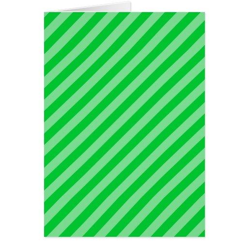 Modelo rayado verde felicitación