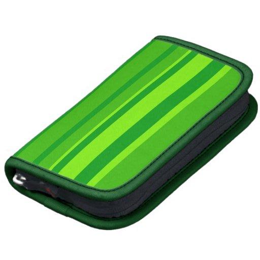 Modelo rayado verde moderno planificador