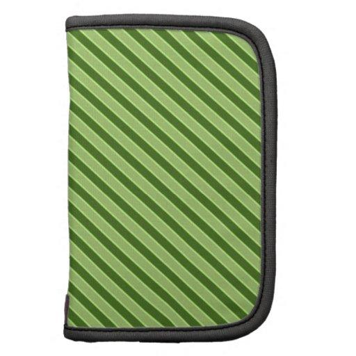 Modelo rayado verde múltiple planificador