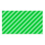 Modelo rayado verde plantilla de tarjeta personal