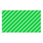 Modelo rayado verde plantilla de tarjeta de negocio