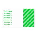 Modelo rayado verde tarjeta de visita