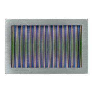 Modelo rayado verde y azul hebillas de cinturón rectangulares
