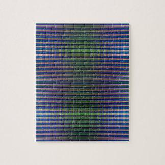 Modelo rayado verde y azul puzzles con fotos