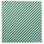 Modelo rayado verde y blanco servilletas imprimidas