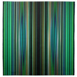 Modelo rayado verde y negro servilletas imprimidas