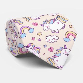 Modelo rechoncho del arco iris de los unicornios corbatas personalizadas