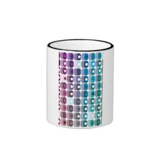 Modelo redondeado apilado del rectángulo taza de dos colores