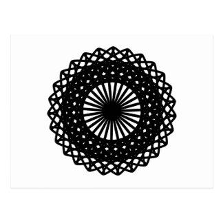 Modelo redondo negro del estilo del cordón postal