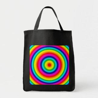 Modelo redondo psicodélico del arco iris bolsas