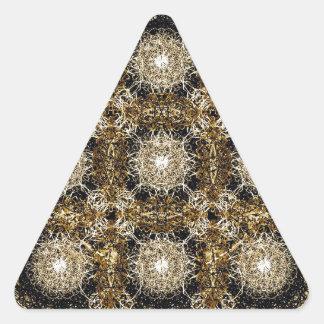Modelo refinado Ornamental Pegatina Triangular