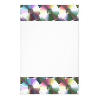 Modelo reflexivo del arco iris del disco compacto papelería personalizada