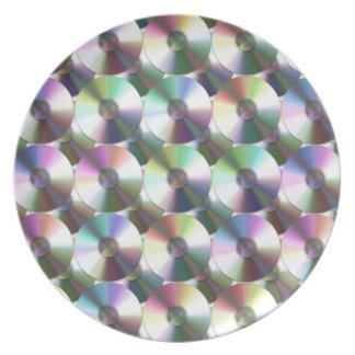 Modelo reflexivo del arco iris del disco compacto platos para fiestas