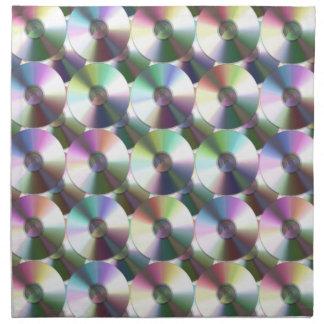 Modelo reflexivo del arco iris del disco compacto servilleta