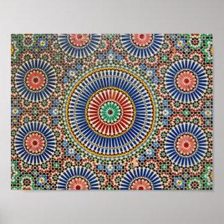 modelo religioso del Islam árabe del mosaico de Póster