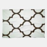 modelo repetible del enrejado marroquí blanco del  toalla