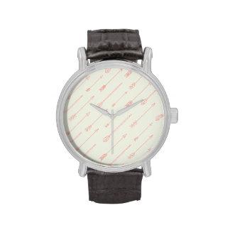 Modelo resumido coral de las flechas reloj de mano