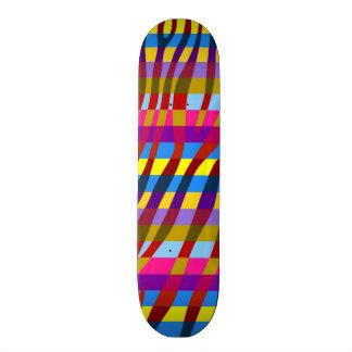 Modelo retro 11 de la raya de la cebra del color skate boards