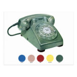 Modelo retro 500 del teléfono del teléfono del tarjeta postal