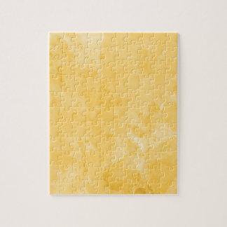 Modelo retro amarillo de la textura de la salpicad rompecabeza con fotos