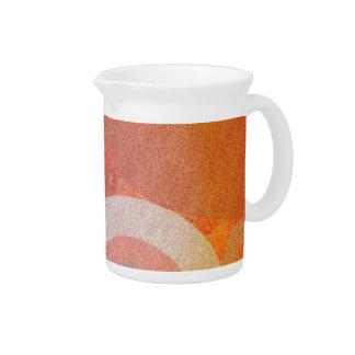 Modelo retro anaranjado descolorado quemado jarrones