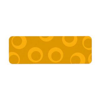 Modelo retro anaranjado etiquetas de remite