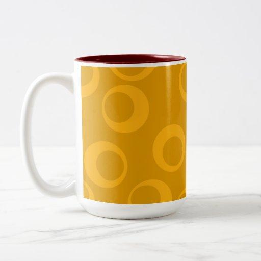 Modelo retro anaranjado taza de café