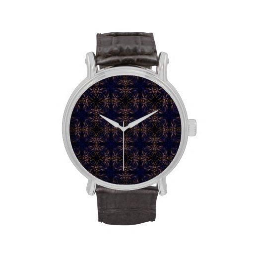 Modelo retro azul del fractal reloj