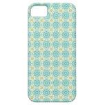 Modelo retro azul en colores pastel fresco Pascua  iPhone 5 Cárcasas