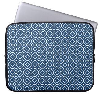 Modelo retro azul marino del ordenador portátil funda computadora