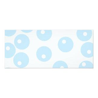Modelo retro blanco y azul claro invitación 10,1 x 23,5 cm