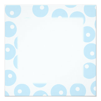 Modelo retro blanco y azul claro. Personalizado Invitación 13,3 Cm X 13,3cm