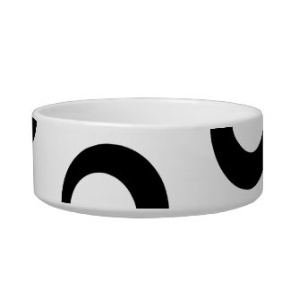 Modelo retro blanco y negro de los círculos comedero para mascota