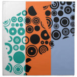 Modelo retro colorido del arte abstracto servilleta
