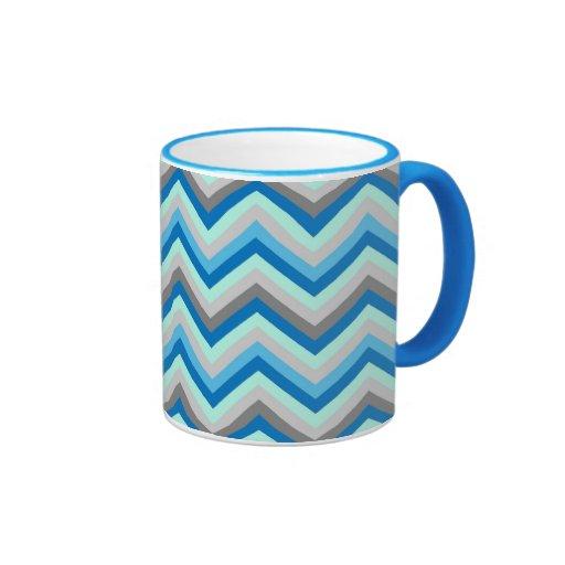 Modelo retro de Chevron del zigzag de la taza