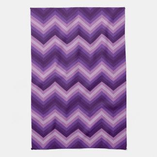 Modelo retro de Chevron del zigzag de la toalla