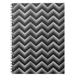 Modelo retro de Chevron del zigzag del cuaderno